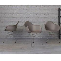 Krzesło P018 PP milde grey, chrom nogi - mild grey