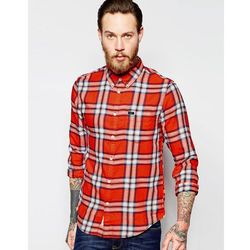 Lee Regular Fit Shirt Button Down Slub Twill Check in Red - Red