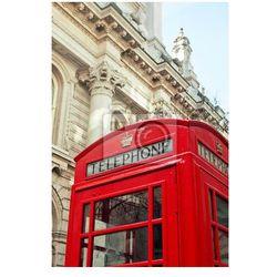 Plakat London czerwony budka telefoniczna