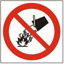 Znak Zakaz gaszenia wodą