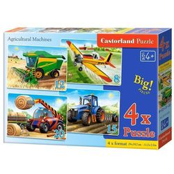 4x1 Puzzle 8-12-15-20 Agricultural Machines - Castor