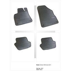 Dywaniki gumowe czarne z kompletem stoperów - Citroen DS5 od 2011