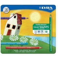 Kredki Lyra Color-Giant 18 kolorów w kasetce