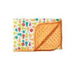 Koc bawełniany dwustronny bąbelki 75x100 BabyOno (pomarańczowy)