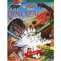 Dinozaury. Naklejkowe łamigłówki (opr. broszurowa)