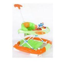 Chodzik kołyska z kierownicą zielono pomarańczowy Sun Baby SB-213PRN/1/ZP