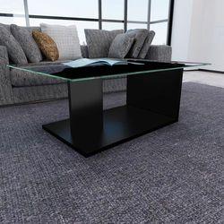 vidaXL Stolik do salonu, szklany blat, nowoczesny, prosty kształt Darmowa wysyłka i zwroty