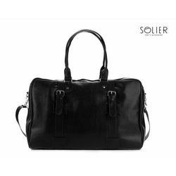 Solidna męska torba podróżna , weekendowa Solier S16