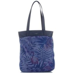 8437f462e9402 Modne Torebki Damskie Oryginalny Shopper w tropikalne wzory marki David  Jones Multikolor Granatowe (kolory)