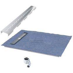 Schedpol podposadzkowa płyta prysznicowa 80x120 cm steel krótki bok 10.008OLKBSL