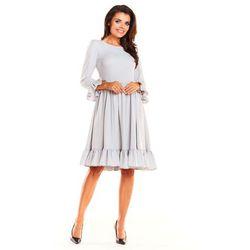 cb2e78bacc suknie sukienki ecru kobieca sukienka z podwojna falbanka - porównaj ...