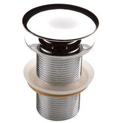 Deante Korek klik-klak okrągły bez przelewu do umywalki chrom Clic-Clac NHC 010A
