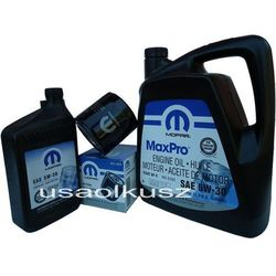 Oryginalny MOPAR filtr oraz mineralny olej 5W30 Chrysler Aspen 4,7 V8 2008-