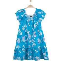 Rozszerzana sukienka z falbanką dla dziewczynki