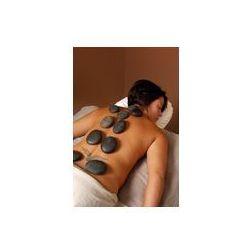 Foto naklejka samoprzylepna 100 x 100 cm - Spa masażu gorąco mineralnych obróbki kamienia
