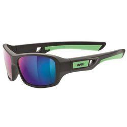 Dziecięce sportowa okulary Uvex Sportstyle 505 black mat green (2716)