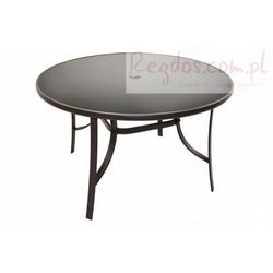 Stół ogrodowy szklany okrągły 120 cm - do ogrodu lub na taras
