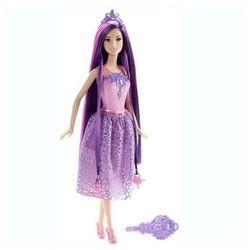 BARBIE Długowłosa księżniczka purple