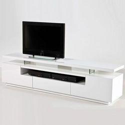 EWELINA biała szafka RTV wysoki połysk