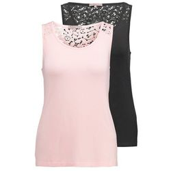 Anna Field 2 PACK Koszulka do spania black/pale pink