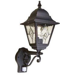 Zewnętrzna LAMPA ścienna NORFOLK NR1/PIR Elstead KINKIET metalowa OPRAWA ogrodowa IP43 z czujnikiem ruchu outdoor czarny