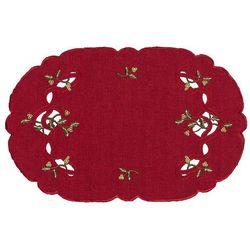 Forbyt Obrus świąteczny jemioła, czerwony, 30 x 45 cm