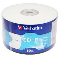 Verbatim CD-R 52x 700MB 50P SP Printable Extra Protection 43794