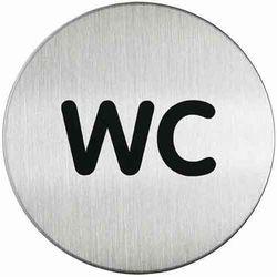 Oznaczenie toalet metalowe okrągłe - WC
