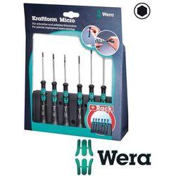 WERA Wkrętaki precyzyjne nasadowe sześciokątne 6cz. +stojak Kraftform Micro 2069/6 (05118158001)