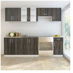 Zestaw drewnianych szafek kuchennych 7 szt. + zlewozmywak 80 x 60 cm Zapisz się do naszego Newslettera i odbierz voucher 20 PLN na zakupy w VidaXL!