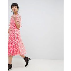 eacf8b4a22 suknie sukienki asos red carpet floral placed embellished bugle bead ...