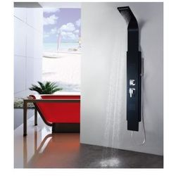 8725 Panel prysznicowy z kaskadą, czarny