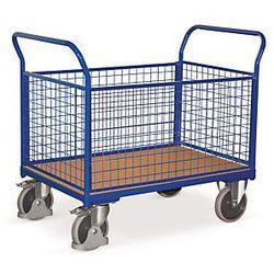 Wózek magazynowy 4 burty siatkowe 850x452