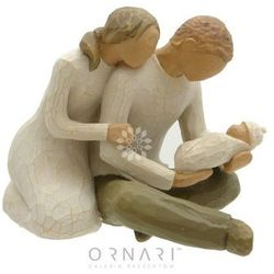 Pamiątka Chrztu, narodzin dziecka - Figurka rodzina Willow Tree