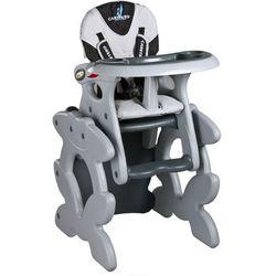 KRZESŁO DO KARMIENIA CARETERO Krzesło do karmienia CARETERO ze stoliczkiem Primus szary