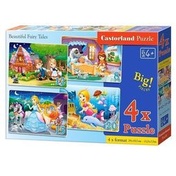 Puzzle 4w1 Beautiful Fairy Tales 8-12-15-20