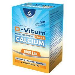 D-Vitum forte Calcium (Witamina D3 1000IU + Wapń z ostryg) 60 tabl.