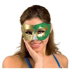 Maska wenecka zielona