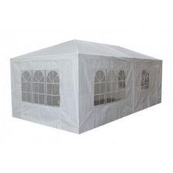 Pawilon ogrodowy 3x6 m - biały - 6 paneli bocznych