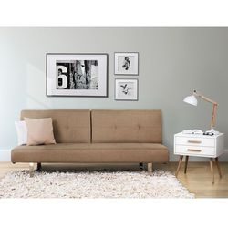 Sofa z funkcja spania bezowa - kanapa rozkladana - wersalka - DUBLIN
