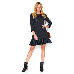 59b52d3493 suknie sukienki sukienka trapezowa falbanka - porównaj zanim kupisz