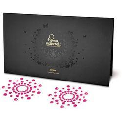 Diamentowe ozdoby na sutki i ciało - Bijoux Indiscrets Mimi okręgi różowe