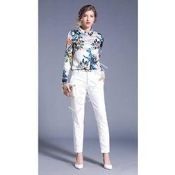 Koszule damskie Biała koszula damska WÓLCZANKA