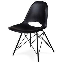 Krzesło GULAR DSM - Czarny, nogi metalowe czarne.
