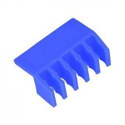 Plastikowy organizer do kabli listwa niebieski