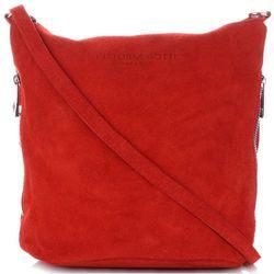 9bee46e8337d0 Vittoria Gotti Uniwersalne i Pojemne Torebki Skórzane Listonoszki na każdą  okazję Czerwone (kolory)