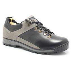 KENT 290 CZARNY-SZARY - Trekkingowe buty męskie 100% skórzane