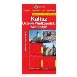 Kalisz Ostrów Wielkopolski Krotoszyn mapa 1:15 000 Daunpol (opr. miękka)