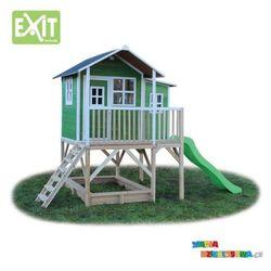 Domek ogrodowy dla dzieci EXIT Loft 550 zielony + GRATIS