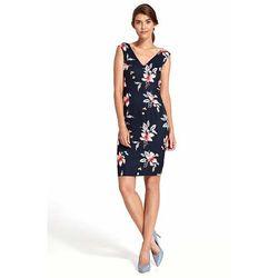 330593972e78fd nife sukienka z lezka na dekolcie s03 czerwona (od Granatowa ...